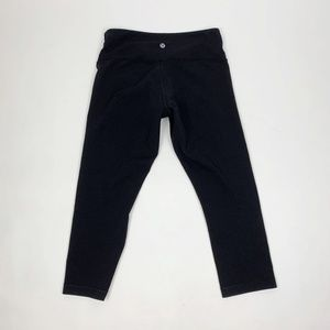 Lululemon Wunder Under Black Crop Capri Pants
